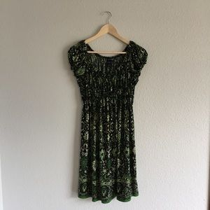 Max Edition Green Floral Dress